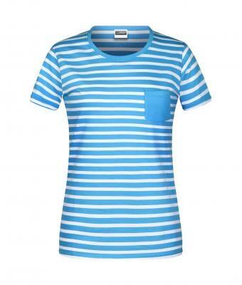 Sieviešu strīpains t-krekls 8027