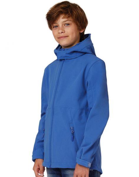 Bērnu softshell jaka ar kapuci