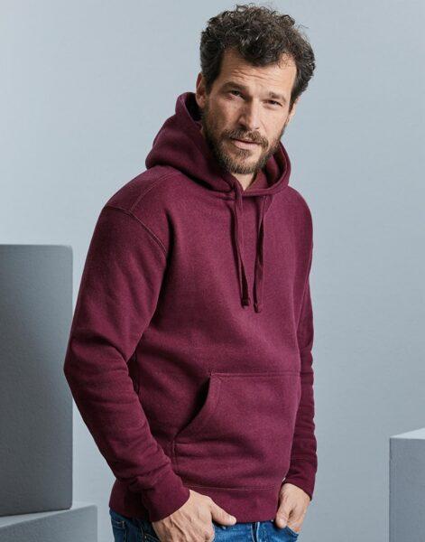 Authentic Melange džemperis ar kapuci