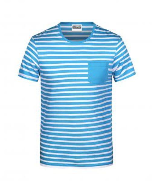 Vīriešu strīpains t-krekls 8028