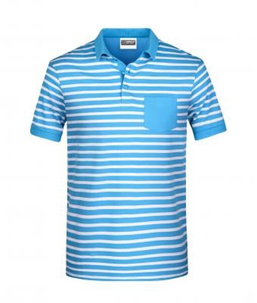 Vīriešu strīpains polo krekls 8030
