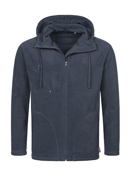 Active mikroflīsa jaka ar kapuci