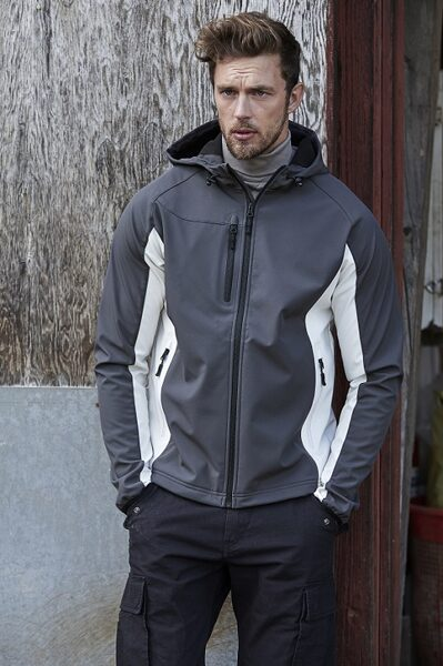 Softshell jaka ar kapuci