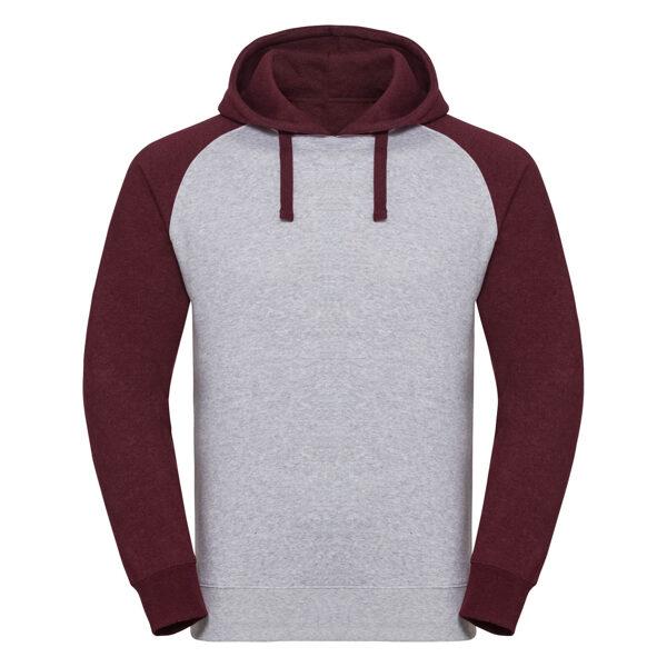 Divkrāsu džemperis ar kapuci
